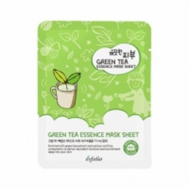 Oferta de Esfolio Pure Skin Green Tea Essence Mask Sheet por 0,95€