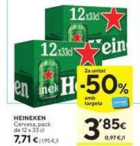 Oferta de Cerveza Heineken por 7,71€