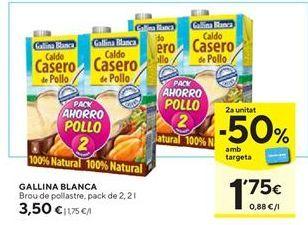 Oferta de Caldo de pollo Gallina Blanca por 3,5€