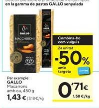 Oferta de Macarrones Gallo por 1,43€