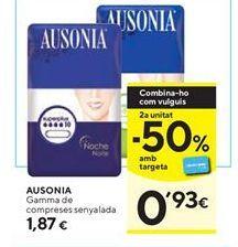 Oferta de Compresas Ausonia por 1,87€