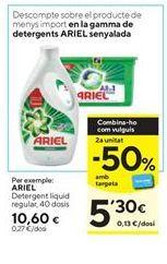 Oferta de Detergente líquido Ariel por 10,6€