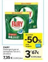 Oferta de Detergente en cápsulas Fairy por 7,35€
