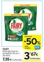 Oferta de Detergente Fairy por 7,35€