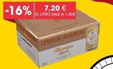 Oferta de Cerveza sin alcohol Alhambra por 7,2€