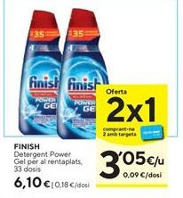 Oferta de Detergente gel Finish por 6,1€