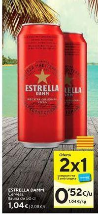 Oferta de Cerveza Estrella Damm por 1,04€