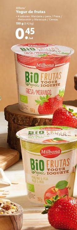 Oferta de Yogur Milbona por 0,45€