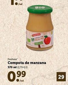 Oferta de Compota de manzana Freshona por 0,99€