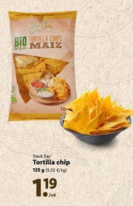 Oferta de Tortillas chips Snack Day por 1,19€