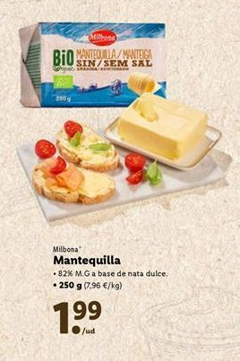 Oferta de Mantequilla Milbona por 1,99€