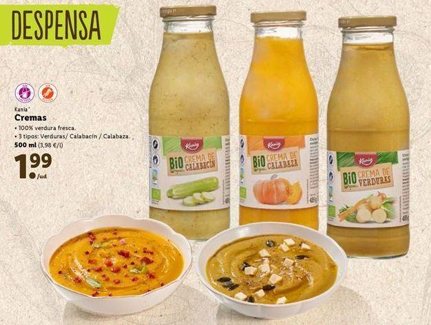 Oferta de Cremas vegetales Kania por 1,99€