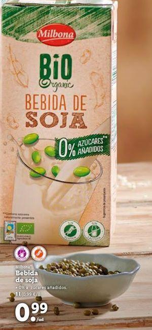 Oferta de Bebida de soja Milbona por 0,99€