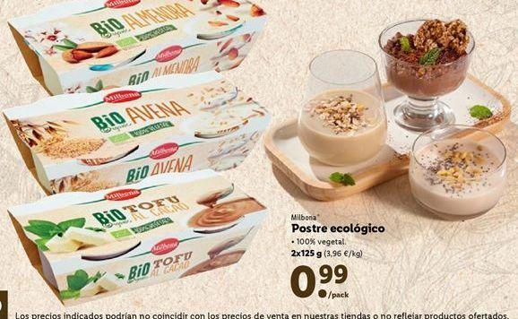 Oferta de Postres Milbona por 0,99€