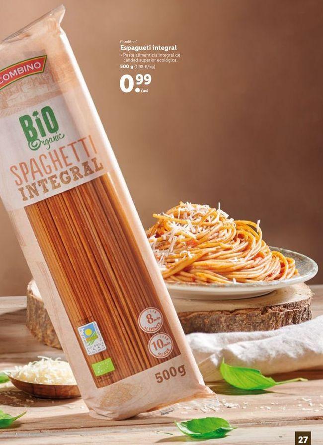 Oferta de Espaguetis combino por 0,99€