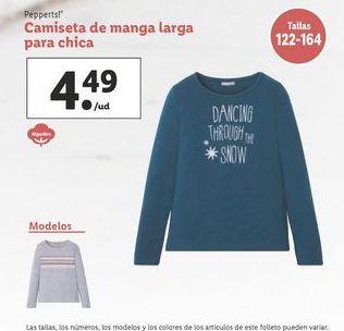 Oferta de Camiseta manga larga Pepperts por 4,49€