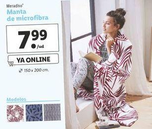 Oferta de Manta de microfibra Meradiso por 7,99€