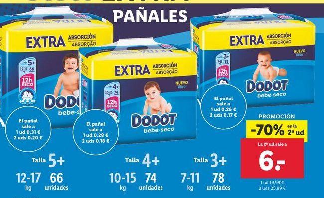 Oferta de Pañales Dodot por 19,99€