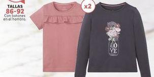 Oferta de Camiseta niña Lupilu por 4,99€