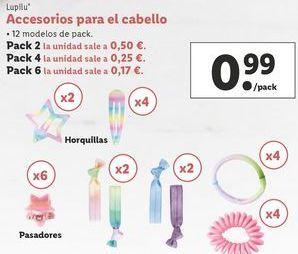 Oferta de Accesorios para el pelo Lupilu por 0,99€