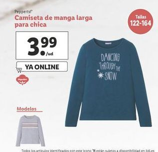 Oferta de Camiseta manga larga Pepperts por 3,99€