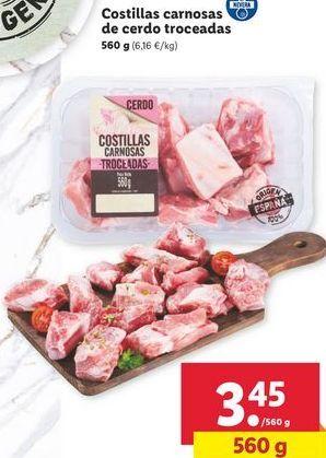 Oferta de Costillas de cerdo por 3,45€