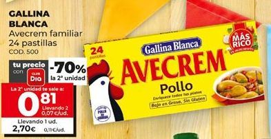 Oferta de Pastillas de caldo Gallina Blanca por 2,7€