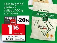 Oferta de Queso rallado por 1,16€