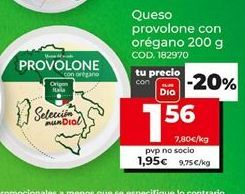 Oferta de Queso provolone por 1,56€