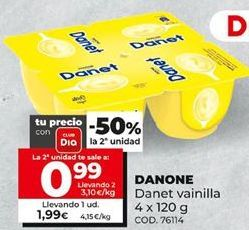 Oferta de Danet vainilla Danone por 1,99€