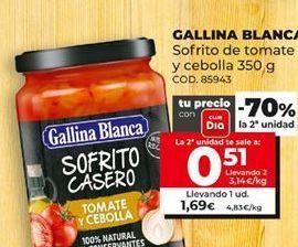 Oferta de Sofrito Gallina Blanca por 1,69€