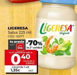 Oferta de Salsas Ligeresa por 1,35€