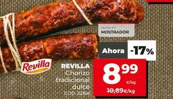 Oferta de Chorizo Revilla por 8,99€