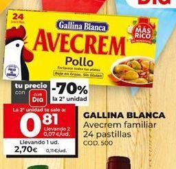 Oferta de Caldo de pollo Gallina Blanca por 2,7€