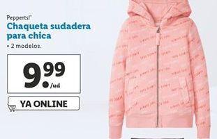 Oferta de Chaqueta sudadera para chica Pepperts por 9,99€