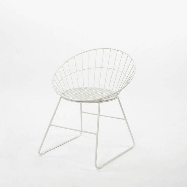 Oferta de Silla Sicília Blanco60x58x70 cm por 49,99€