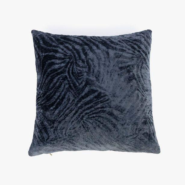 Oferta de Funda Cojín Jungle fever Cebra Azul oscuro 45x45 cm por 12,99€