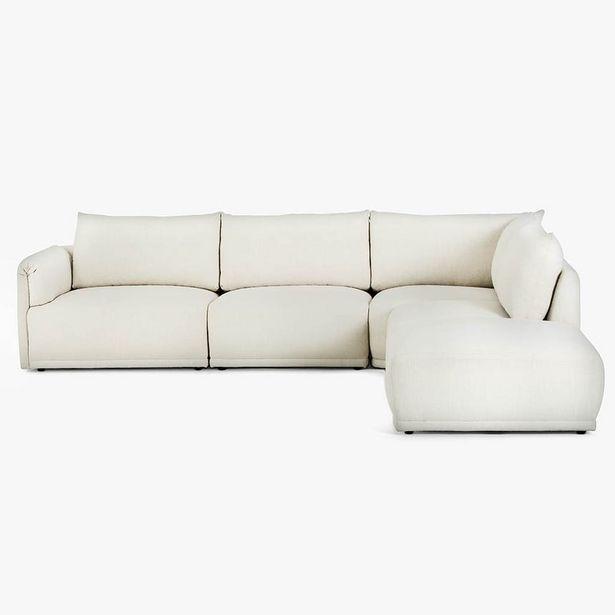 Oferta de Sofá de esquina Cotillard Blanco 304x285x82 cm por 2299€