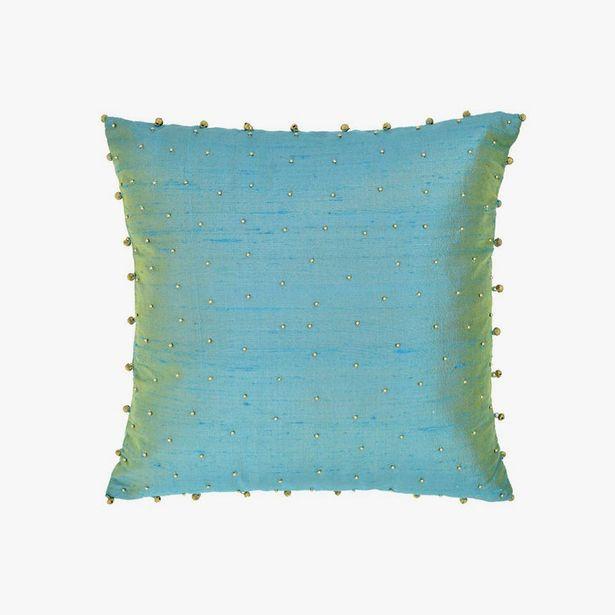 Oferta de Funda Cojín Cascabel Azul 40x40 cm por 17,99€