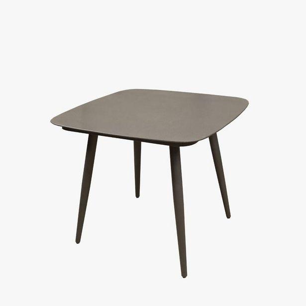 Oferta de Mesa Leblon Gris 80x80x74 cm por 199€