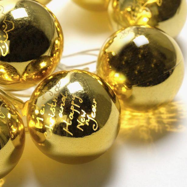 Oferta de Luces de Navidad Bola 10 LED Oro por 14,99€