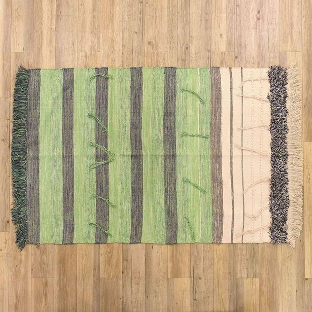 Oferta de Alfombra Flecos Verde 120x180 cm por 39,99€