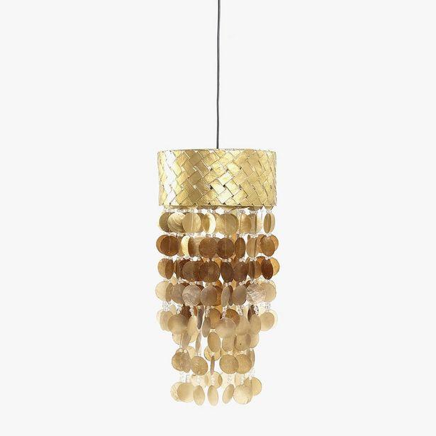 Oferta de Lámpara de Techo Conchas Oro 31 cm por 79,99€