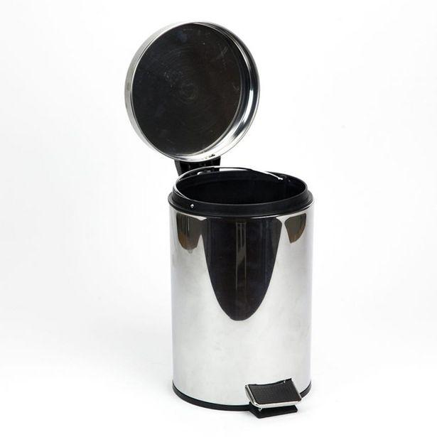 Oferta de Cubo de Basura 3 Litros Cromado por 7,19€