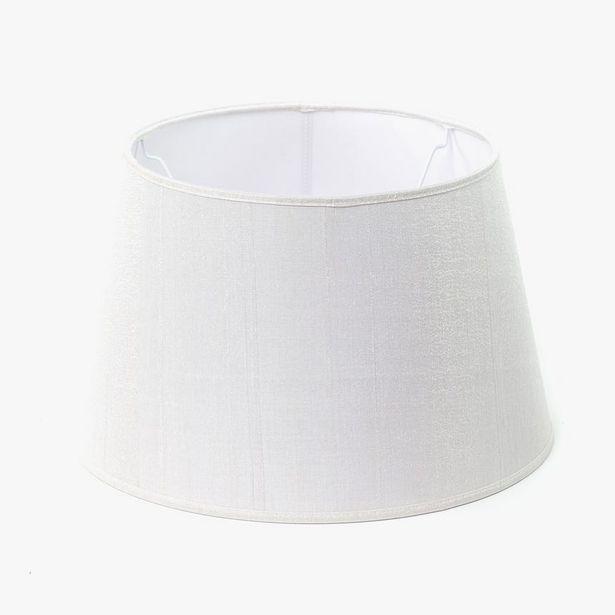 Oferta de Pantalla Drum Seda Blanco D: 40cm por 30,36€