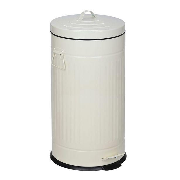 Oferta de Cubo de Basura Blanco 30 Lt por 39,99€