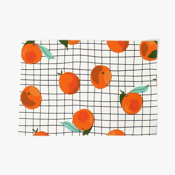 Oferta de Mantel Individual Naranjas 33x49 cm por 2,5€