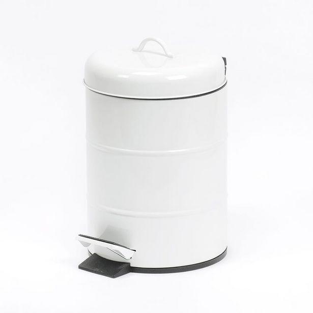 Oferta de Cubo de Basura Blanco 5 Lt por 11,99€