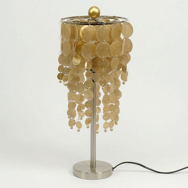 Oferta de Lámpara de Mesa Conchas Oro por 63,99€