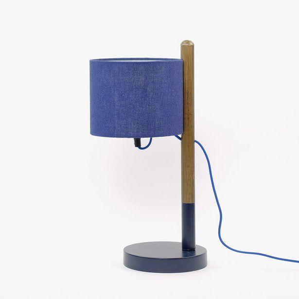 Oferta de Lámpara de Mesa Philadelphia Azul por 29,99€